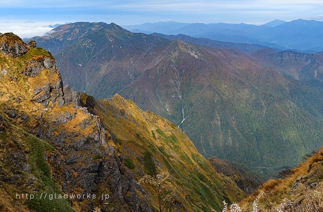 谷川岳登山コースからの眺望画像
