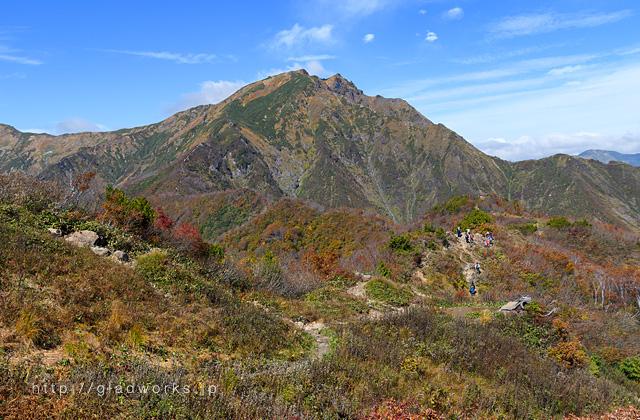紅葉の谷川岳