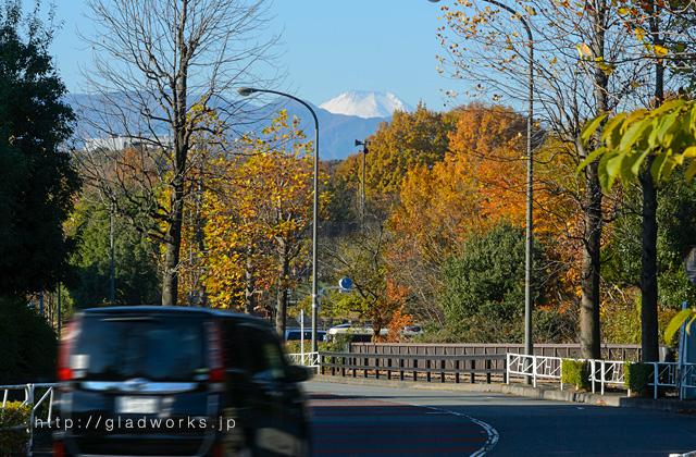 上柚木公園前からの富士山