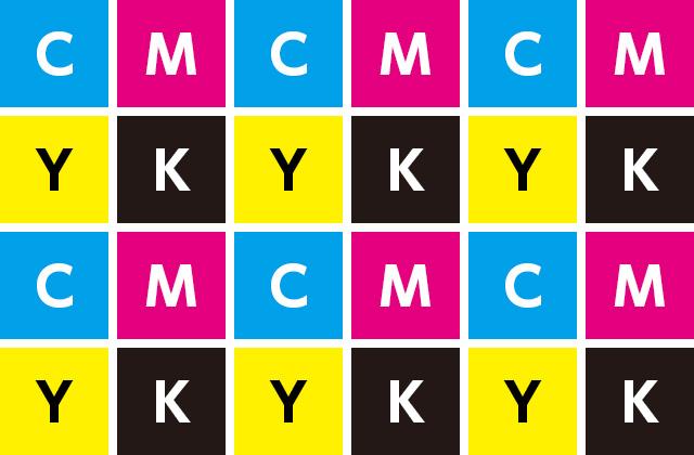 CMYKのグリッドイメージ